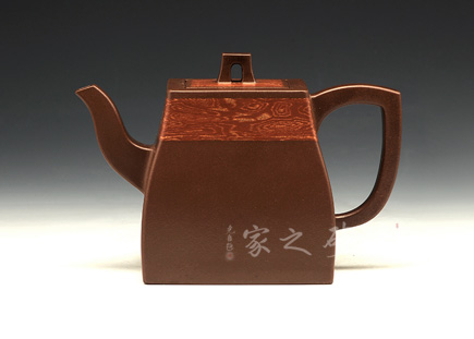 宜兴紫砂壶-汉方-绞泥-孔春华