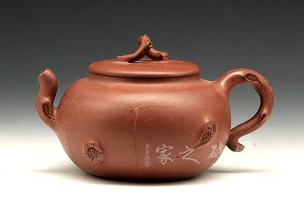 宜兴紫砂壶-树桩供春-周洪芳