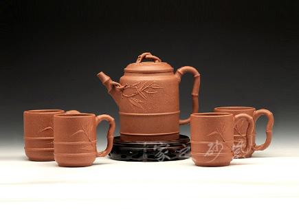 五头竹节茶具