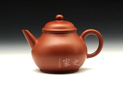 宜兴紫砂-水平壶-大红袍-尹月华