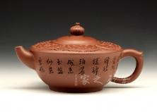 宜兴紫砂壶收藏作品-茶花壶-曹婉芬