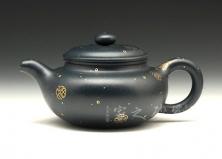 宜兴紫砂壶-仿古壶-原矿墨绿泥-卢伟萍