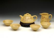 竹节石瓢套壶
