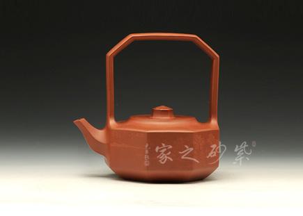 宜兴紫砂-八方提梁-原矿清水泥-范锡明