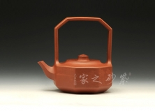 紫砂壶-银奖-八方提梁-范锡明