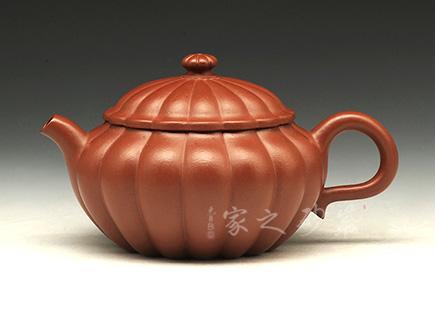 宜兴紫砂壶-宝菱壶-大红袍-周勇生