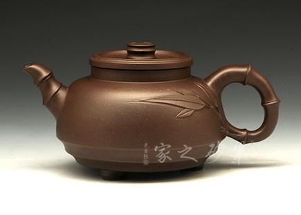 竹泉三足壶