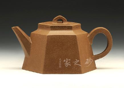 宜兴紫砂壶-六方壶-降坡泥-潘涛