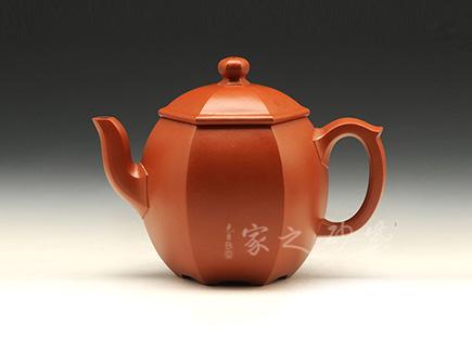 宜兴紫砂壶-六方龙蛋-大红袍-潘国胜