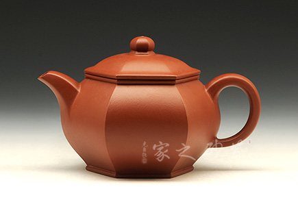 宜兴紫砂壶-六方掇只-大红袍-潘国胜