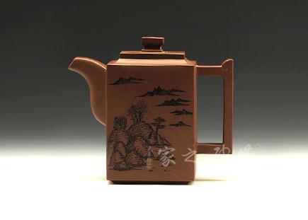 宜兴紫砂壶-砖方壶-方勤平