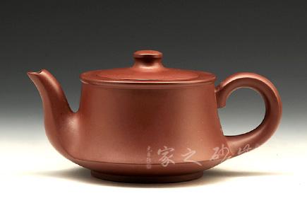 宜兴紫砂壶-晨曲壶-紫红泥-程彩华