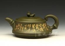 宜兴紫砂壶收藏作品-一品竹段-朱丹