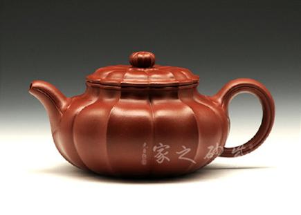 宜兴紫砂壶精品馆作品-冯炼-菱花仿古
