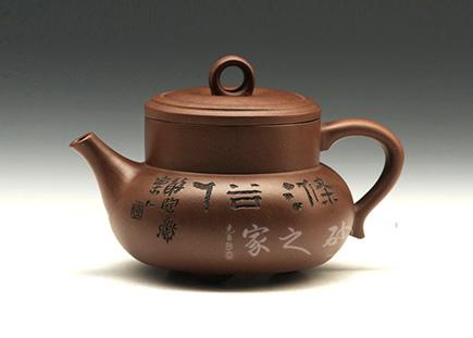 小柱础壶(鲍志强刻绘)