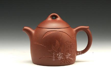 宜兴紫砂壶-秦权-原矿红皮龙-刘一飞