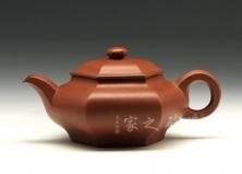 宜兴博升国际娱乐壶-红小六方-原矿红泥-张红华