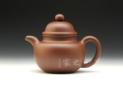 宜兴紫砂壶-掇球-原矿底槽青-杨瑶芬