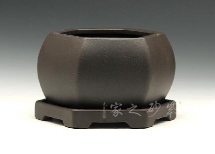 六方古井花盆