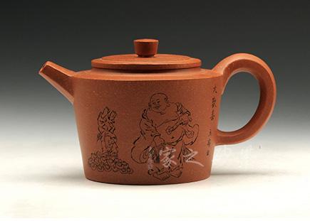 宜兴紫砂壶-皆大欢喜-庄青