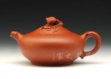 宜兴紫砂壶-桃子壶-原矿朱泥-储彩琴