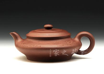 宜兴紫砂壶-虚扁-原矿清水泥-王泉林