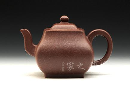 宜兴紫砂壶-遒方壶-紫泥调砂-潘小忠