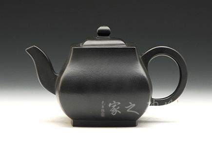 宜兴紫砂壶-遒方壶(焐灰)-原矿紫泥-潘心怡