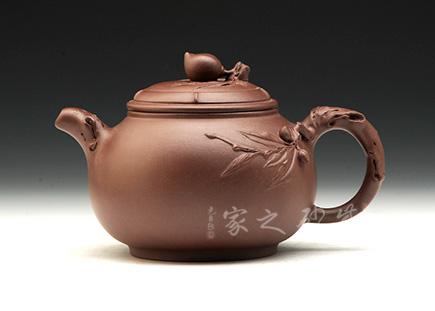 宜兴紫砂壶-祝寿壶-原矿紫泥-潘小忠