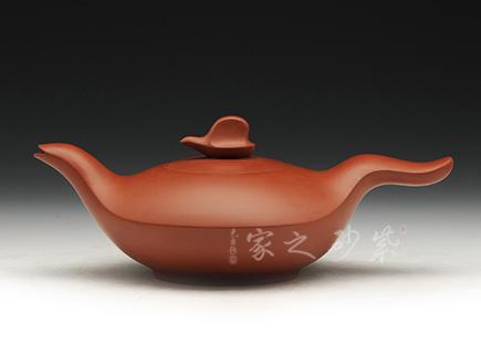 宜兴博亿堂娱乐壶-雁南飞(特别荣誉奖博亿堂娱乐)-朱红泥-周军明