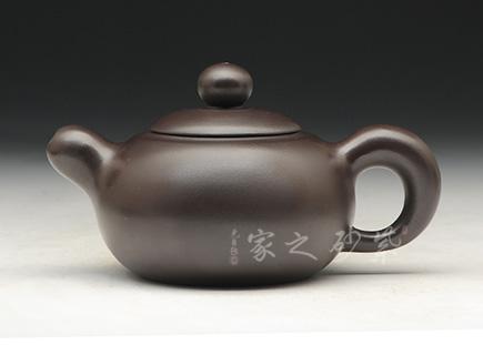 宜兴博亿堂娱乐壶-玉玲壶-老紫泥-万俊峰