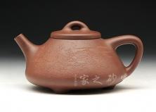 宜兴紫砂壶-子冶石瓢(马健刻)-原矿底槽青-钟新明