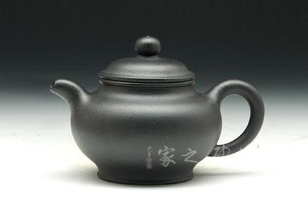 宜兴紫砂壶-掇只壶-黑泥-孙跃强