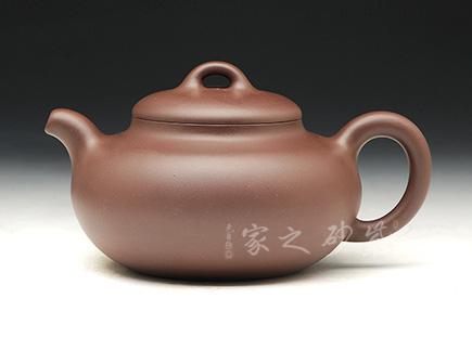 宜兴博亿堂娱乐壶-扁圆壶-原矿紫泥-高旭峰