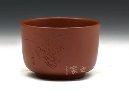 大红袍品茗杯(2面刻绘加