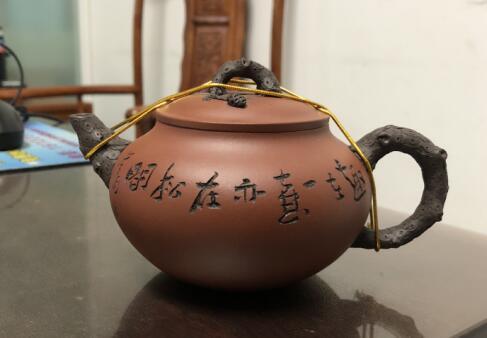 傲松壶(厉上清刻绘)