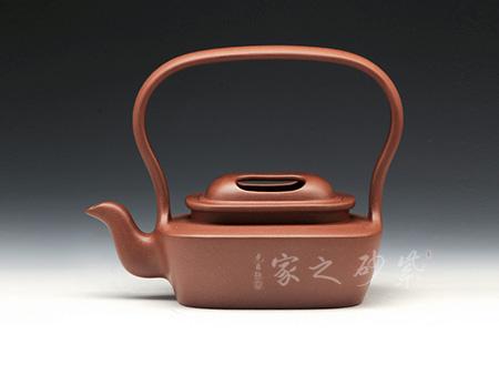 紫砂壶-优-牛盖提梁-原矿底槽青-范锡明