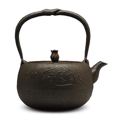 100%日本堂口直供-丸龙砂铸铁壶