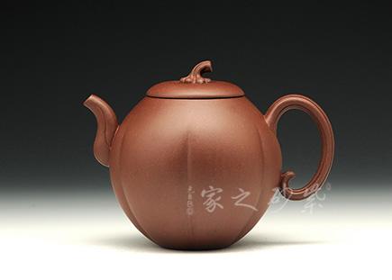 宜兴紫砂-金瓜-原矿底槽青-储峰